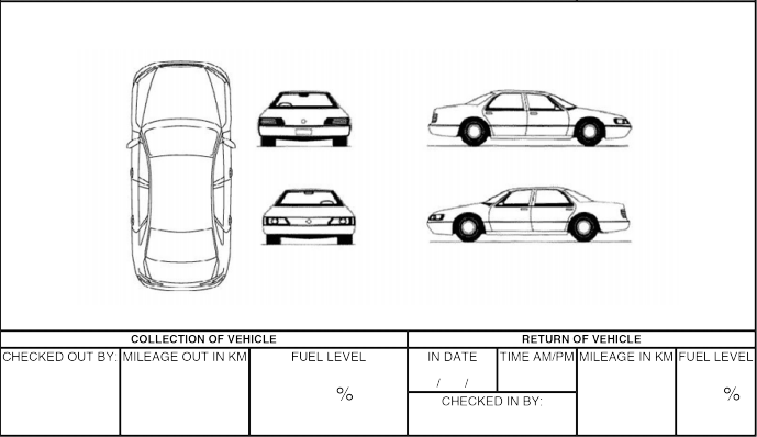 diagram for vehicle accident report